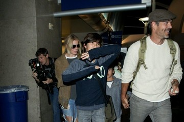 Eddie Cibrian Eddie Cibrian and LeAnn Rimes at LAX