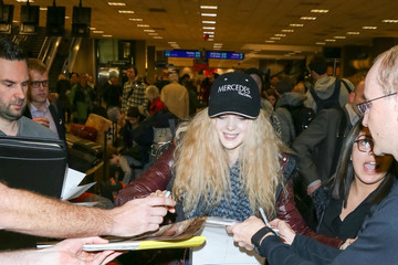 Elena Kampouris Celebrities at the Salt Lake City Airport