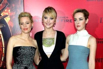 Elizabeth Banks Jennifer Lawrence 'The Hunger Games: Catching Fire' Premieres in NYC