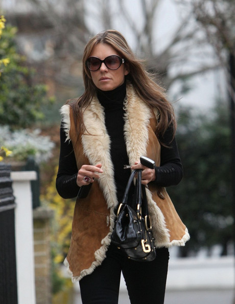 Elizabeth Hurley Elizabeth Hurley, 45, looks stylish a she arrives back home.