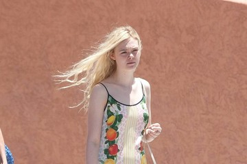 Elle Fanning Elle Fanning Rocks a Fruit Dress