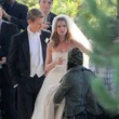 Emily VanCamp Films a Wedding Scene