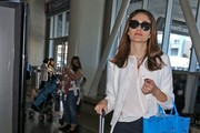 Emmy Rossum at LAX airport in Chanel