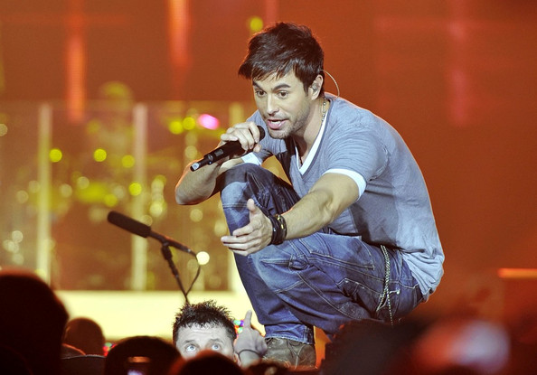 Enrique Iglesias performs at the O2 Arena.