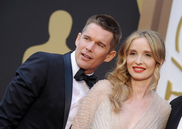 "Photo of Julie Delpy & her friend actor  Ethan Hawke - Movie ""Before Sunrise"""