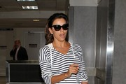 Eva Longoria Arrives at LAX