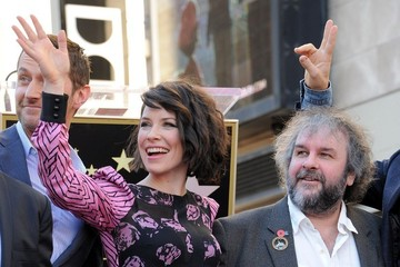 Evangeline Lilly Peter Jackson Honored on the Walk of Fame