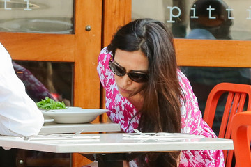 Famke Janssen Famke Janssen Lunches in New York