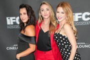 Scout Taylor Compton, Landry Allbright and Renee Olstead are seen attending 'Feral' Premiere at Arena Cinalounge in Los Angeles, California.