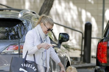 Fergie Fergie Out with Her Son