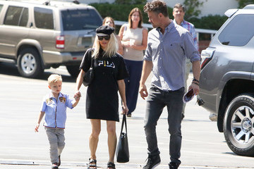 Fergie Fergie and Josh Duhamel Head Out in L.A.