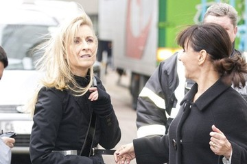Fiona Phillips Arlene and Fiona Phillips at the ITV Studios