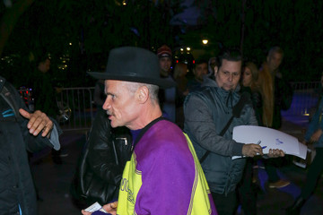 Flea Celebrity Sightings at Los Angeles Lakers Game on Christmas