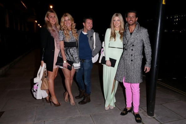 Ollie Locke, Francesca Hull and Ashley James at Home House
