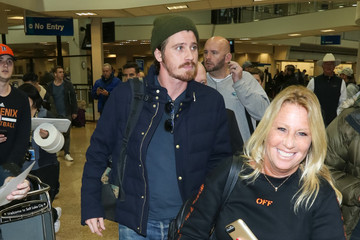 Garrett Hedlund Celebrities at the Salt Lake City Airport