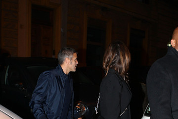 George Clooney George Clooney and Elisabetta Canalis Have a Date Night