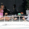Henry Beckwith Geri Halliwell and Henry Beckwith on a Yacht