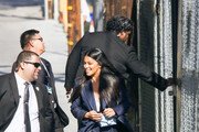 Gina Rodriguez is seen arriving at 'Jimmy Kimmel Live' in Los Angeles, California on April 17, 2019.