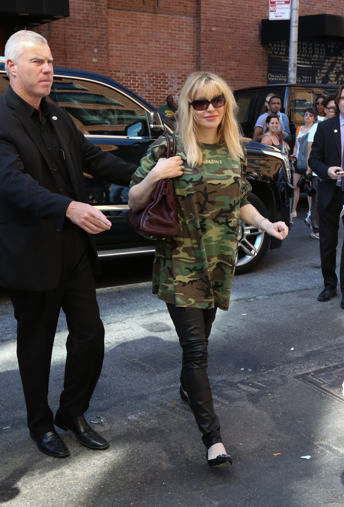 Courtney Love Photos Guests Arrive At The Kanye West Fashion Show In New York Zimbio