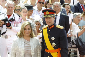 Grand Duchess of Luxembourg Guests arrive for Monaco royal wedding