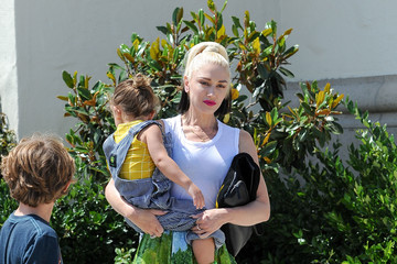 Gwen Stefani Gwen Stefani Goes to Church With Her Kids