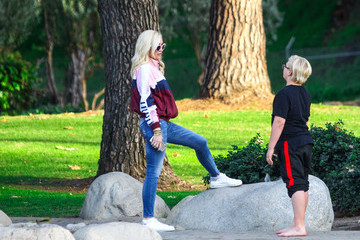 Gwen Stefani Gwen Stefani Rocks Her Signature Casual Look While Out In L.A.
