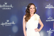 Rachel Boston is seen attending the Hallmark Channel and Hallmark Movies & Mysteries summer 2019 TCA press tour Event at Private Residence in Los Angeles, California.