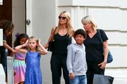 Heidi Klum with Her Kids in NYC