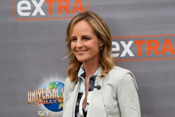 Helen Hunt Celebs Visit the Set of 'Extra'