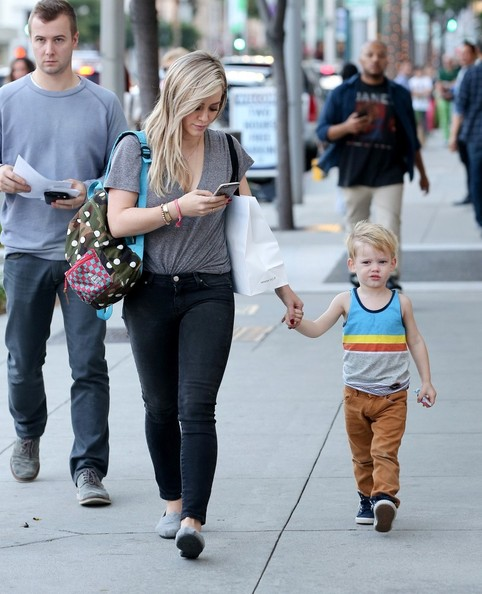 Hilary Duff and Luca Out and About []