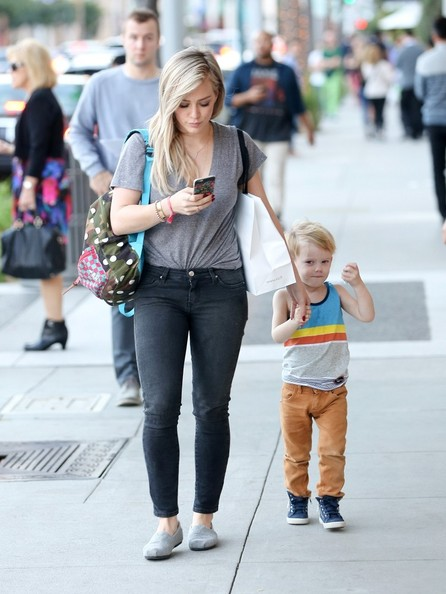 Hilary Duff and Luca Out and About