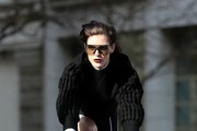 Hilary Rhoda Works a Fashion Shoot
