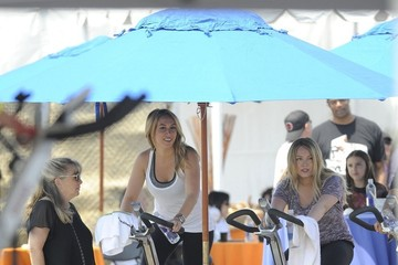 Hailey Duff Hillary Duff and Hailey Duff at the Cycle for Life Event