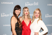 Elissa Down, Meghan Rienks and Sasha Pieterse are seen attending 'The Honor List' Premiere at London Hotel in West Hollywood in Los Angeles, California.