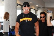 Hulk Hogan Arrives at LAX