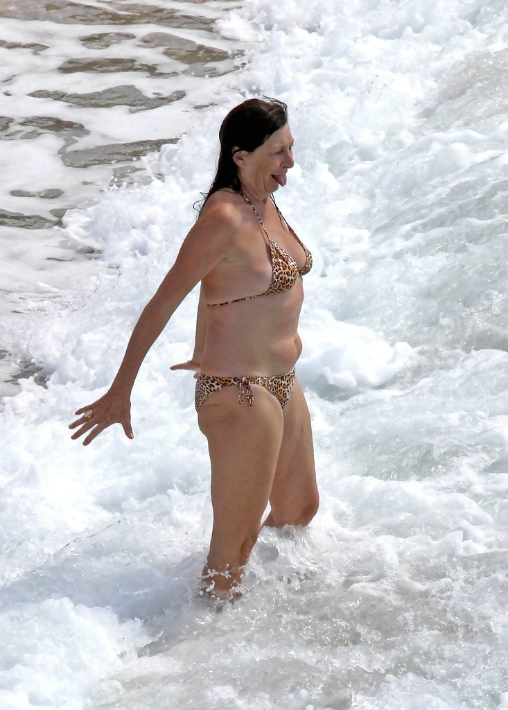 Anjelica Huston In Anjelica Huston On The Beach Zimbio