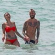 Ivone Meireles Raul Meireles and His Wife Relax at the Beach — Part 2