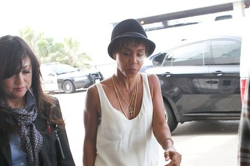 Jada Pinkett Smith Jada Pinkett Smith Arrives at LAX