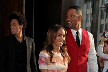 Jada Pinkett Smith Trey Smith Will Smith and His Family at the 'After Earth' Premiere