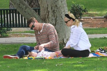 Jaime King Jaime King and Family at the Park