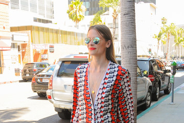 Jaime King Jaime King Goes Out in a Strawberry Ensemble
