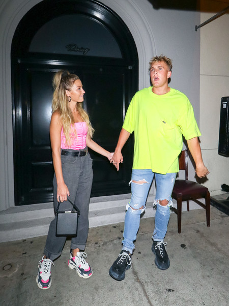 Jake Paul Outside Craig's Restaurant In West Hollywood