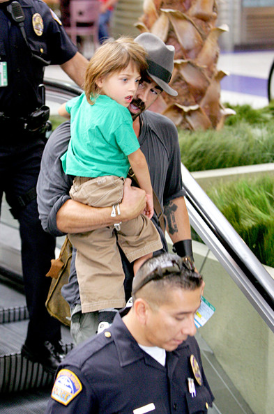 Colin Farrell and His Son at LAX