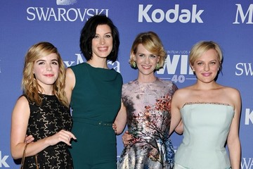 January Jones Elisabeth Moss Arrivals at the Crystal + Lucy Awards
