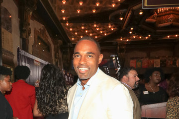 Jason George Jason George Outside Pantages Theatre In Hollywood