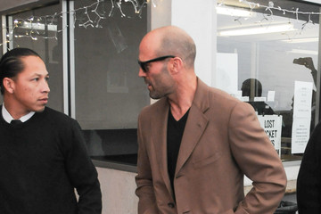 Jason Statham Sylvester Stallone and Jason Statham Hang Out