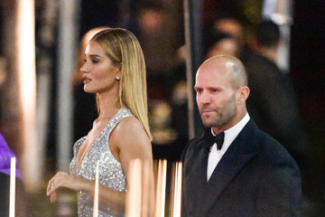 Jason Statham Rita Ora Outside Vanity Fair Oscar Party