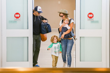 Jason Sudeikis Olivia Wilde and Jason Sudeikis at LAX International Airport