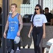 Jayde Pierce Justin Bieber and Jayde Pierce Go to the Gym