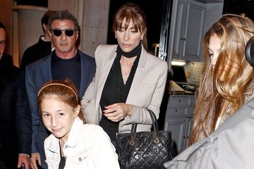 Jennifer Flavin Sylverster Stallone and Family in Paris